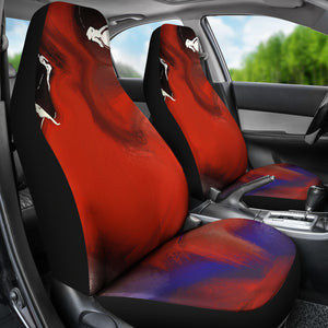Car seat covers Abstract Face with mini women