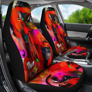 Car seat covers Abstract red