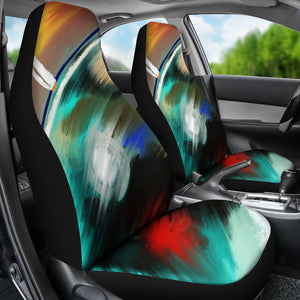 Car seat covers Ocean abstract
