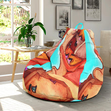 Bean bag chair abstract nude