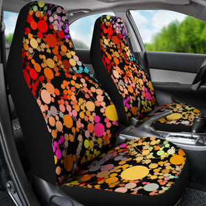 Car seat covers Abstract circles
