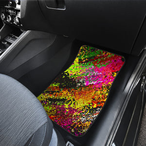 Car mats front and back Abstract print