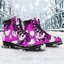 All season boots women's/Pink skull 4