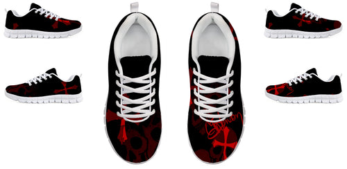 Women's sneakers Red/skull