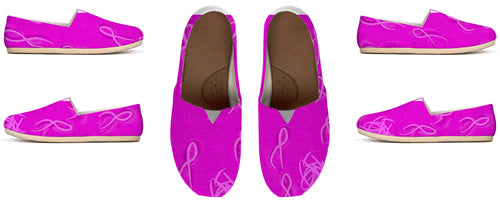 Womens Casual shoe Cancer awareness