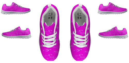 Women's sneakers Cancer Awareness