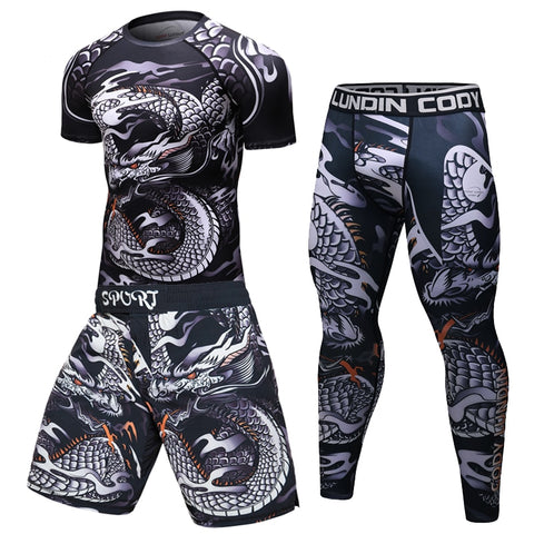 Brand New Men Tracksuit Sports Suit Gym Fitness Compression Clothes