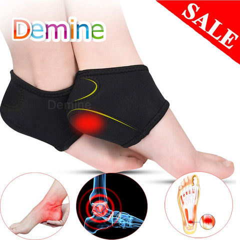 Demine Plantar Fasciitis Socks for Achilles Tendonitis Calluses Spurs Cracked Pain Relief Heel Pads