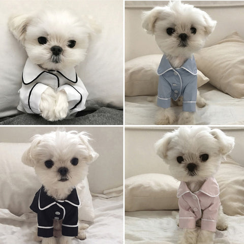 Luxury Clothes for Dog Fashion Dog Pajamas  for Small Medium Dogs