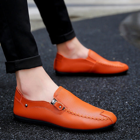 Men Loafers Driving Shoes Soft Casual Shoes Men Flats Men Shoes Leather Loafers Slip On unisex Light weige sneakers Dress shoes