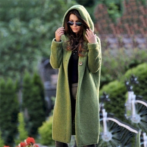 Women's Sweaters Winter 2020 Fashionable Casual Loose Sweater Cardigans Puff Hooded Coat