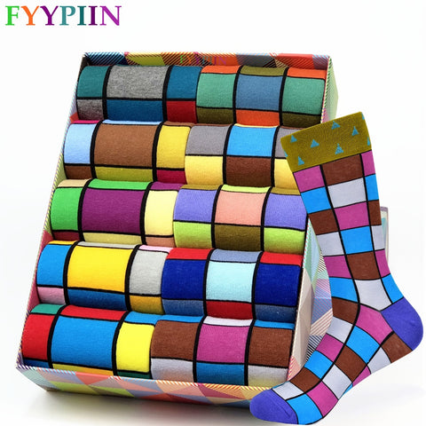 Hot Sale Men Socks 2020 New Colorful Gifts for Men Cotton Mens Socks Geometric