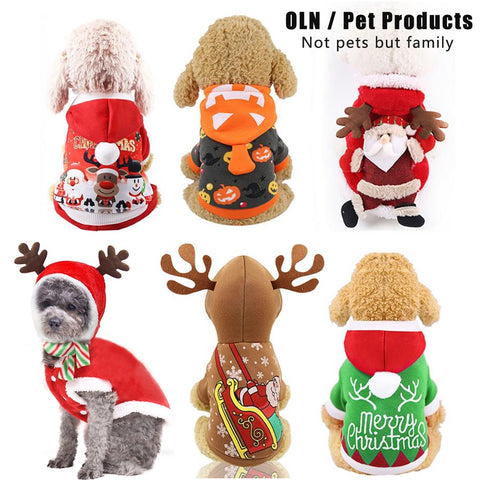 Dog Christmas Clothes Sweater Dog Hoodies Cat Clothing Jacket