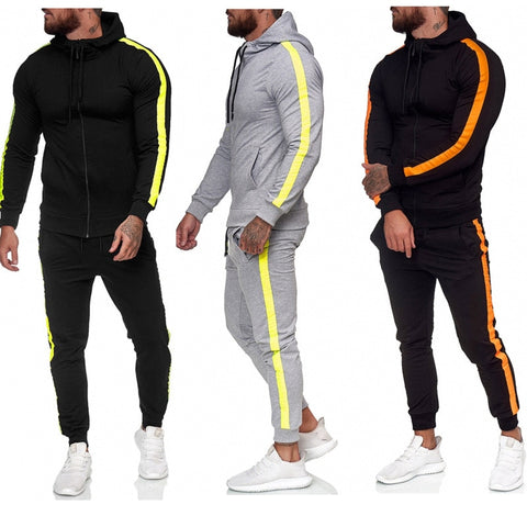Sweatpants and Hoodie Set Men  Tracksuit  Sweatsuit  Polyester