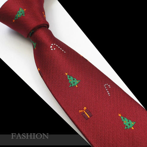 RBOCOTT Red Christmas Tie 7cm Snowman Ties For Christmas Day