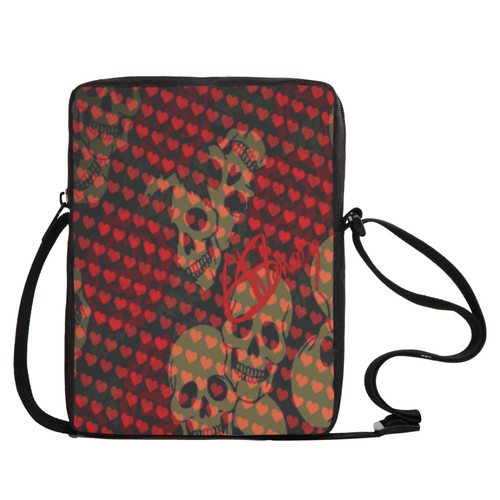 Crossbodybag Hearts and skulls
