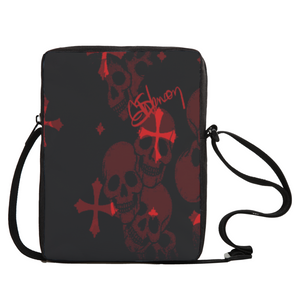 Crossbody bag Red skull print2