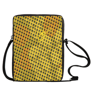 Crossbody bag Yellow skull print