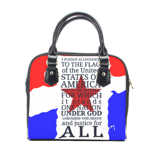 Leather shoulder handbag Patriot1