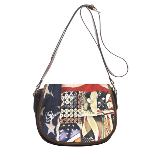 Leather saddle bag Patriot