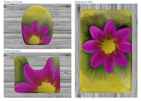 Bath mats Bath/3 piece bath setFlower