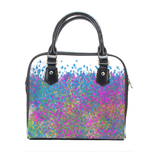Leather shoulder handbag Multi Color