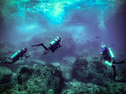 Three Scuba Divers in Cabo Pulmo