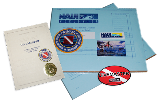 NAUI Divemaster Materials - Online training Code and Admin forms