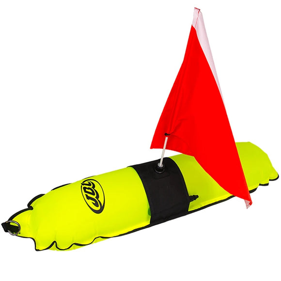 Torpedo Float with Flag for Freediving and Spearfishing