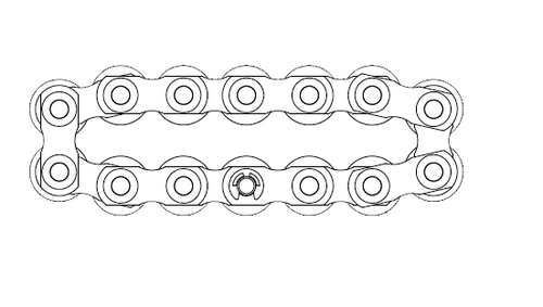 15 Ton FT Series Individual Roller Complete Chain