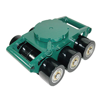 Hilman Heavy Moving Bull Dollies, 18 Ton Swivel Smooth Top, Poly Wheels