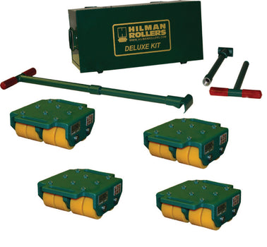 Hilman 24 Ton Rigid Diamond Top Bull Dolly Kit with Poly Wheels
