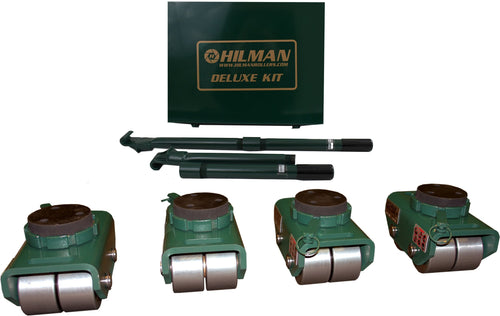 Hilman 12 Ton Swivel Padded Top Bull Dolly Kit with Steel Wheels