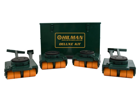 Hilman 24 Ton Swivel Padded Top Bull Dolly Kit With Poly Wheels