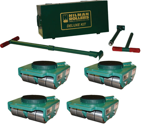 Hilman 24 Ton Swivel Padded Top Bull Dolly Kit with Steel Wheels