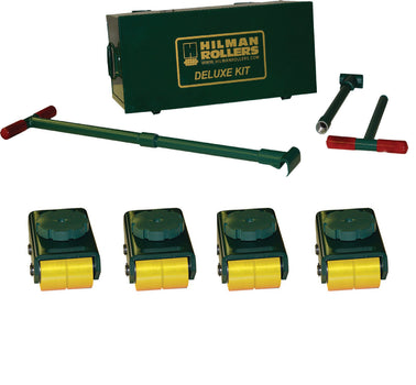 Hilman 12 Ton Swivel Smooth Top Bull Dolly Kit with Poly Wheels