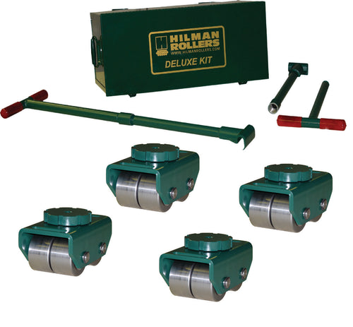 Hilman 12 Ton Swivel Smooth Top Bull Dolly Kit with Steel Wheels