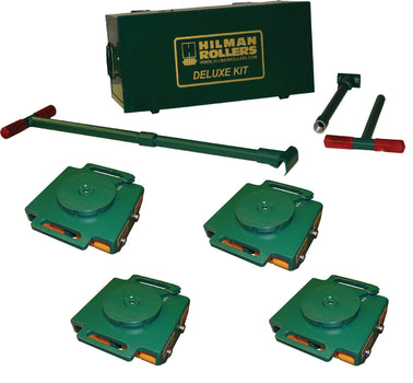 Hilman 24 Ton Swivel Smooth Top Bull Dolly Kit with Poly Wheels