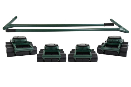 Hilman 72 Ton Swivel Padded Top Bull Dolly Set Machinery Moving Dollies