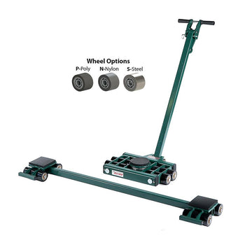 Hilman 3 Point Load Moving Tri-Glide Kit, 15 Ton, Steel Wheels