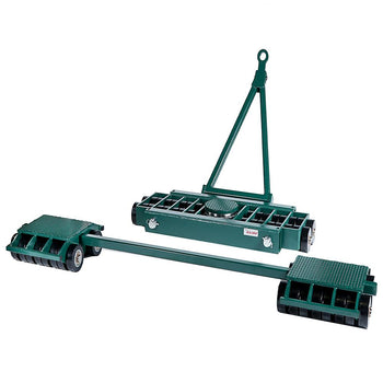 Hilman 3 Point Load Moving Tri-Glide Kit, 80 Ton, Poly Wheels