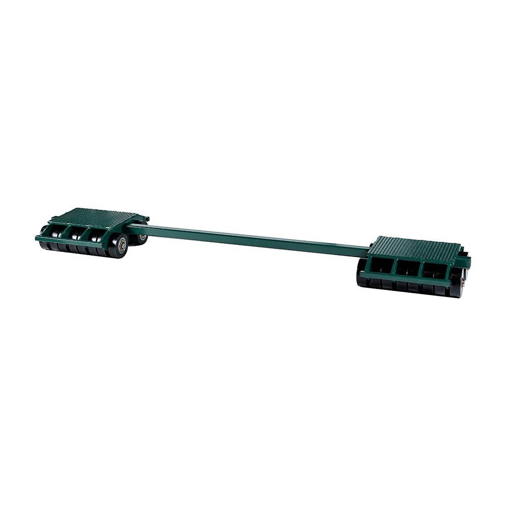Hilman Individual Tri-Glide 3 Point Load Moving Rear Dollies, 40 Ton, Poly Wheels
