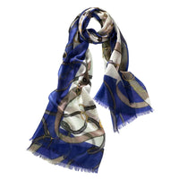 Cashmere Featherweight Print Scarf (Twilight)