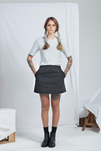 Reside Skirt Black | Organic Denim