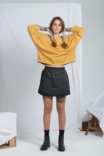 Signal Crew Ochre | Organic Cotton Sweatshirting