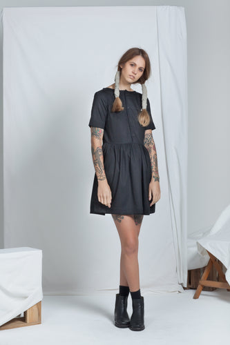 Vessel Dress Black | Organic Denim