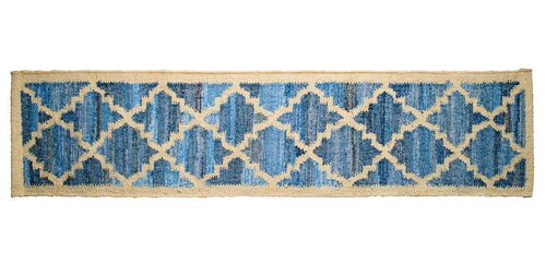 Leela Table Runner | Up-cycled Denim & Sustainable Jute