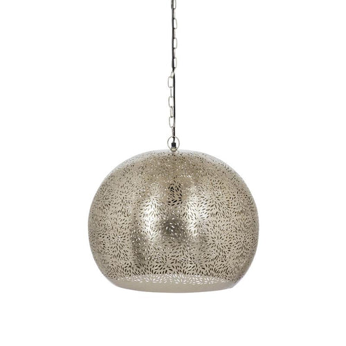 Mahabala Pendant Light | Etched by Hand – Nickel