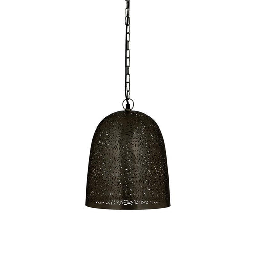 Sachin Pendant Light | Etched by Hand – Black