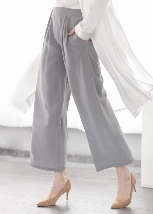 18MM Silk Wide Leg Pants